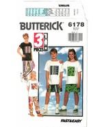 Butterick 6178 Fast & Easy Children's Top, Shorts & Pants Size 7-8-10 UN... - $7.47