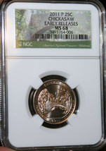 #~☆MS-68☆~ 2011 Chickasaw National Park Quarter .25 NGC CHEAPEST ON EBAY!!! - $70.11