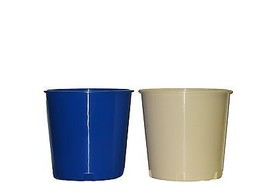 2 Offering/Ice/Utility Buckets  1 ea Blue Creme Mfg USA, Lead Free, Recy... - $23.72