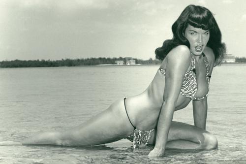 Bettie page leopard skin bikini