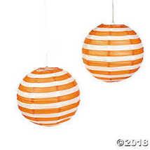 Orange Striped Hanging Paper Lanterns - $12.49