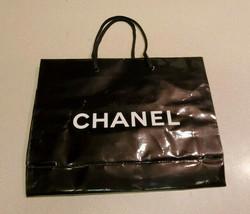 "Authentic CHANEL Medium 7 3/4"" x 10"" x 3"" Black Gift Shopping Bag - $8.42"