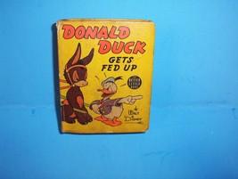 Vintage 1940 Better Little Big Book Walt Disney DONALD DUCK Gets Fed Up ... - $19.99
