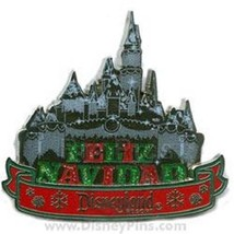 Disney Christmas Disneyland Feliz Navidad Sleeping Beauty Castle pin - $16.65
