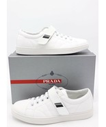 NIB Prada Mens Logo Strap White Tech Nylon Sneakers Shoes 11  New - $325.00