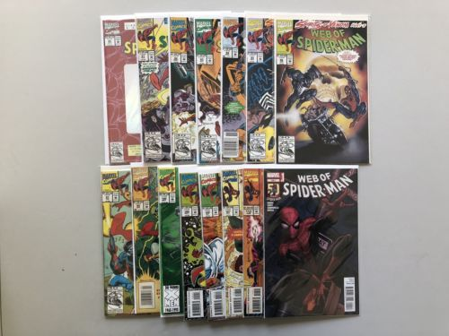 Lot of 15 Web of Spider-Man (1985 1st Series) from #90-129 VF Very Fine