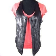 New Diesel Black Label Leather Vest Bustier Lamb Nappa $770 K-D1143 - $129.99