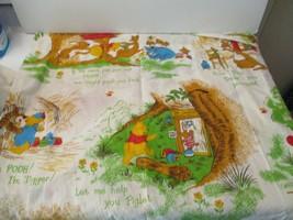 "Vintage Winnie The Pooh 1960s Curtains Set Ex cond. 48 "" x 64""  Bright C... - $45.00"