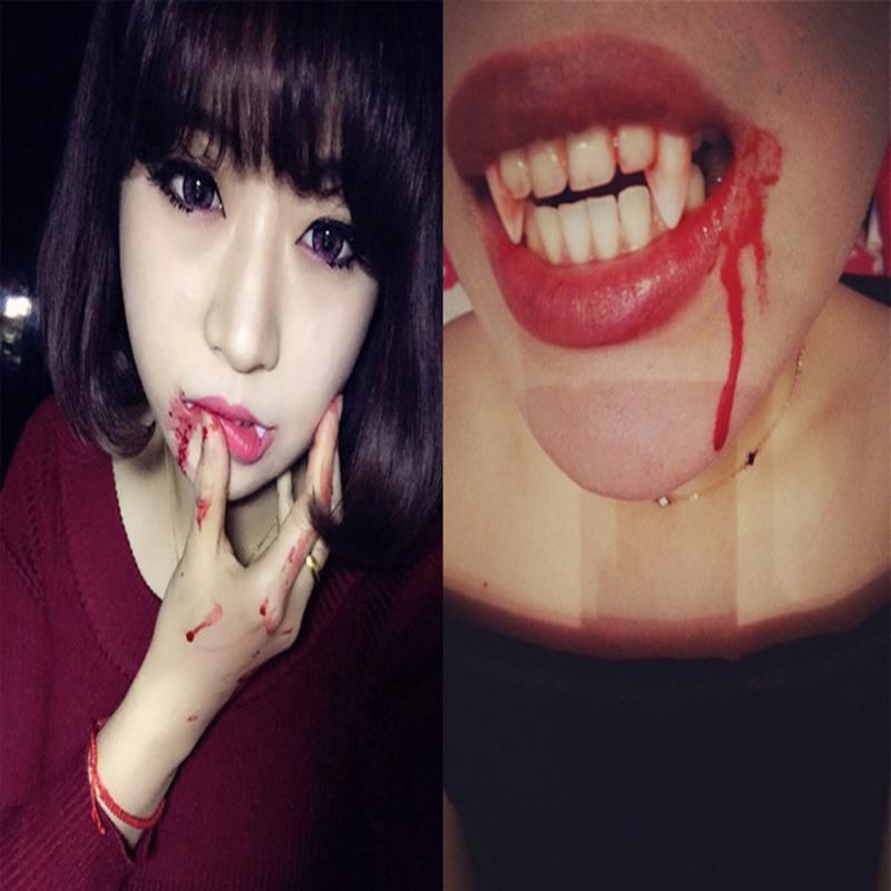 Realistic Fake Blood Vampire Cosplay Makeup Bloody Hand Creepy Halloween Prop