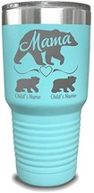 Mama Bear Personalized Tumbler - Laser Engraved, add up to 10 Cubs - Per... - $15.09