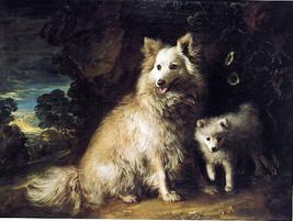 Precious Pomeranian Puppy Dog Portrait Painting By Thomas Gainsborough Repro - $10.96+