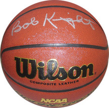 Bobby Knight signed NCAA Wilson Indoor/Outdoor Basketball (Indiana Hoosi... - £110.31 GBP