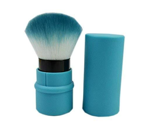 Retractable Blush Brush Protable Cosmetic Cheek Brush, Blue