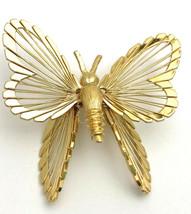 Vintage Monet Golden Butterfly Brooch Pin - $6.64