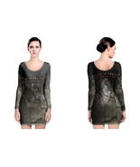 alice in chains black gives way to blue LONG SLEEVE BODYCON DRESS - $25.99+