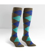 Argyle Knee High Socks Green & Turquoise New Women's Size 9-11 Diamond F... - $11.95