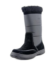 COACH Snow Boots New Sherman Signature Logo Leather Mid Calf Boot Black ... - £50.86 GBP