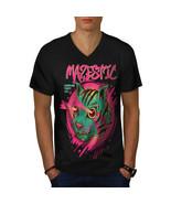 Shooting Laser Cool Cat Shirt  Men V-Neck T-shirt - $12.99+
