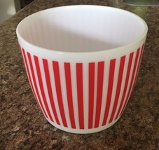 Vintage Candy Red Striped Anchor Hocking Ice Bucket bx102 - $47.64