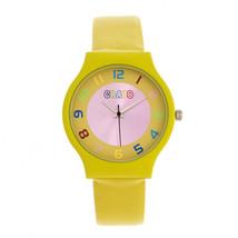 Crayo Jubilee Strap Watch - Yellow - £84.03 GBP