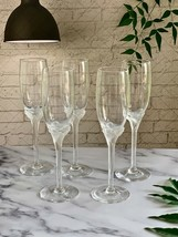 Lenox Ritz Crystal Champagne Flutes, Set of Five, Perfect Mint Condition... - $38.61