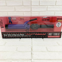 "Hot Tools 1.25"" Professional Tourmaline Professional Curling Iron Purple... - $33.20"
