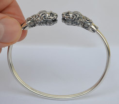 Lion Silver Set Bracelet Pendant Ring - Symbol of Strength - $199.00
