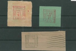 TRADE PRICE STAMPS LONDON SQUARE CANCELS ON PIECE - $3.66