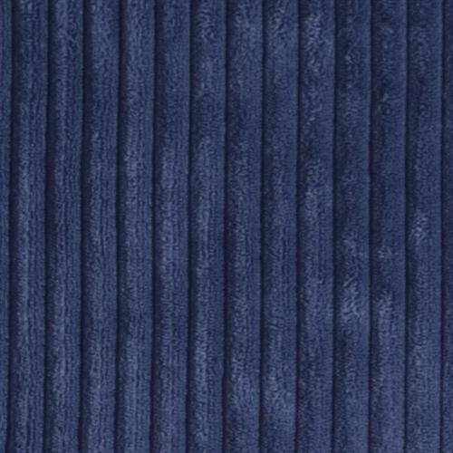Pillow Decor - Wide Wale Corduroy 22x22 Dark Blue Throw Pillow