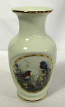 "Vintage Lenox 6"" Vase Summer Interlude Natures Collage Collection - $12.86"