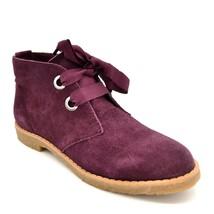 Isaac Mizrahi Live Women Zoe Ankle Boot Sz 5M Merlot Suede Lace Up Round... - $54.44
