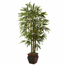 Bamboo Tree Decorative Planter Artificial Nearly Natural Green Office Home Decor - $139.30