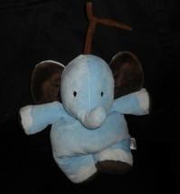 Carter's Bébé Enfant De Mine Musical Bleu Marron Éléphant Peluche Animal Jouet - $27.71