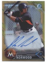 2016 Bowman Chrome Prospects Autographs Refractors Gold BCPA-JN John Nor... - $30.00