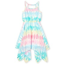 NWT The Childrens Place Girls Tie Dye Woven Sleeveless Handkerchief Dress - $12.99