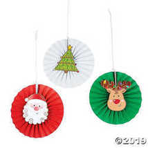 Christmas Character Hanging Fans  - $16.24