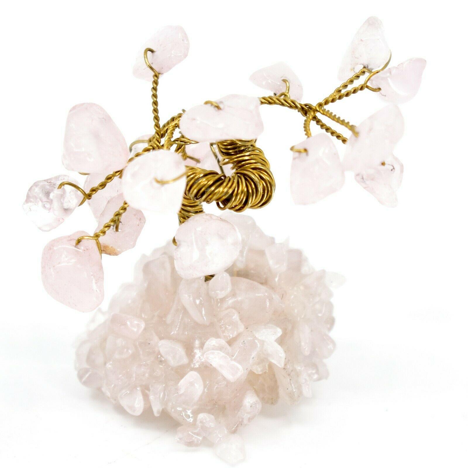 Polished Rose Quartz Gemstone Miniature Gem Tree Mini Gemtree