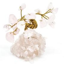 Polished Rose Quartz Gemstone Miniature Gem Tree Mini Gemtree image 1