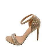 Blossom Angie 39 Nude Sparkle Women's Embellished Formal Heels - $44.89