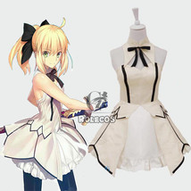 Fate Stay Night Grand Order Saber Lily Sleeveless Tee Dress Cosplay Cost... - $45.99