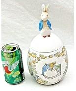 Beatrix Potter Easter Egg Peter Rabbit Ceramic Candy Jar Canister 1996 V... - $39.57