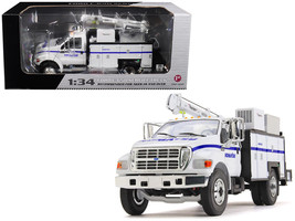 """Ford F-650 \""""Komatsu\"""" with Maintainer Service Body 1/34 Diecast Model Car by Fi - $103.72"""
