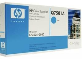 HP Q7581A Cyan 3800 Genuine Toner Cartridge CP3505 - 3800 NEW IN BOX - $17.33