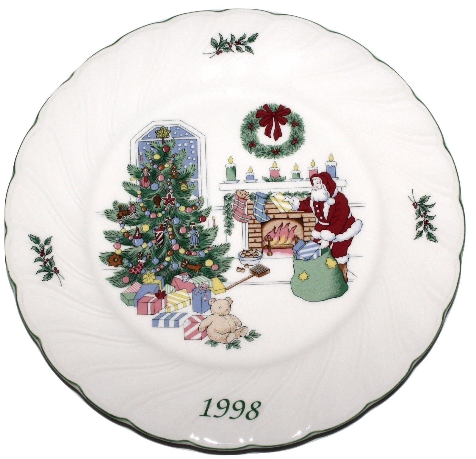 nikko happy holidays 1998 christmas collector plate japan new in the box 3271