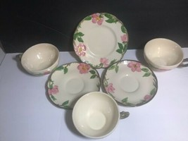 Franciscan China Dinnerware DESERT ROSE USA & England Cups and Saucers - $22.00