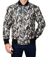 US Army Camouflage Military Tank Bomber Air Force Leather Motorcycle Jacket - $200.00