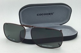 COCOONS Grey Polarized Sunglasses/Eyeglasses Over Rx Clip-on REC 1-58 Bronze