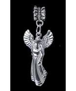 NICE Celtic Angel Goddess Sterling silver charm bead jewelry - $23.70