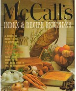 McCall's Index and Recipe Reminder 1978 Vintage Cookbook Index Paperback - $5.93