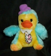 "5"" VINTAGE 1987 COMMONWEALTH YELLOW & BLUE BABY DUCK STUFFED ANIMAL PLUS... - $10.76"